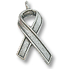 Awareness Ribbon Charm 19x12mm Pewter Ant. Silver Plated (1-Pc)