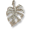Charm - Leaf 18x13mm Pewter Antique Silver Plated (1-Pc)