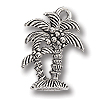 Charm - Palm Trees 18x14mm Pewter Antique Silver Plated (1-Pc)