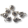 Clapper Bells Bright Silver Color 6mm (10-Pcs)