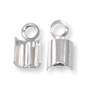 4mm Sterling Silver Fold Over End Connector  (1-Pc)