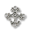 Connector Pewter Antique Silver Plated 10x19mm (1-Pc)