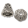 TierraCast Cone - Spiral 9x9mm Pewter Antique Silver Plated (1-Pc)