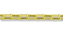 Rectangular Rolo Link Chain 3mm Gold Plated (Priced per Foot)