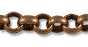 Rolo Link Chain 7mm Antique Copper Plated (Priced per Foot)