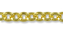 Triangle Rolo Link Chain 3.5mm Gold Plated (Priced per Foot)