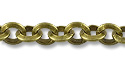 Triangle Rolo Link Chain 3mm Antique Brass Plated (Priced per Foot)