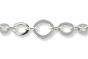 Five Ring Oval Link Chain 10mm Silver Plated (Priced per Foot)