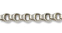 Chain 4 Sided Double Link 4mm Antique Silver Plated (Priced per Foot)