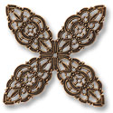 Filigree Clover Connector Antique Copper Plated 48mm (1-Pc)