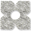 Filigree Clover Connector Silver Plated 42mm (1-Pc)