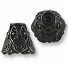 TierraCast Cone - Spiral 9x9mm Pewter Gunmetal Plated (1-Pc)