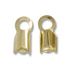 Connector - Fold Over 4x9mm Gold Plated (10-Pcs)