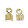 Connector - Fold Over 3x5mm Gold Plated (10-Pcs)