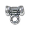 Bail - Tube 6.5x6.5mm with Closed Loop 2mm Sterling Silver (1-Pc)