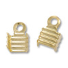 Connector - Fold Over Rib 5x7mm Gold Plated (10-Pcs)