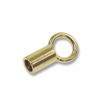 6x2mm Gold Plated Seamless Crimp Tube Cord End (10-Pcs)