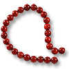 Red Coral Round Beads 6-7mm (16