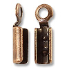 Connector - Fold Over 2x7.5mm Antique Copper Plated (4-Pcs)