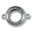 Cosmic Ring Setting 2-Loop 14mm Pewter Antique Silver Plated (1-Pc)