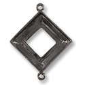 Square Cosmic Ring Setting 2-Loop 20mm Pewter Gun Metal Plated (1-Pc)
