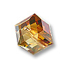 Swarovski Cube Beads 5601 6mm Crystal Copper (1-Pc)