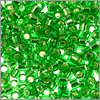 Miyuki Delica Seed Bead 11/0 Silver Lined Green (3 Gram Tube)