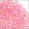 Miyuki Delica Seed Bead 11/0 Silver Lined Pink (3 Gram Tube)