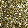 Miyuki Delica Seed Bead Hex Cut 11/0 Transparent Gold Luster Smoked Topaz (3 Gram Tube)