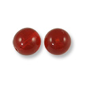 Czech Pressed Glass Round Beads 4mm Ruby (10-Pcs)