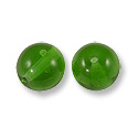 Czech Pressed Glass Round Beads 6mm Emerald (10-Pcs)