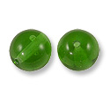 Czech Pressed Glass Round Beads 8mm Emerald (10-Pcs)