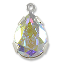 Swarovski Pear Shape Drop 14x10mm Crystal AB Rhodium Plated (1-Pc)