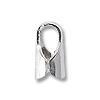 6x2.5mm Sterling Silver End Cap (2-Pcs)