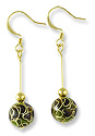 Earring Kit - Cloisonne Dark Green
