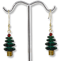 Earring Kit - Christmas Tree Earrings Emerald
