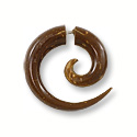 Coconut Shell Swirl 22mm Earrings (Pair)