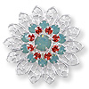 Swarovski Filigree 62004 Sterling Plated Pacific Opal/Pad/PacOpl (1-Pc)