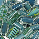 Cane Glass Beads - Aqua Mix (Ounce)