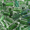 Cane Glass Beads - Green Mix (Ounce)