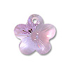 Swarovski Flower Pendant 6744 12mm Violet (1-Pc)