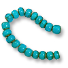 French White Heart Turquoise Bead 6-7mm (20