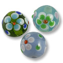 Glass Bead Multi-Color Flower 12mm (10-Pcs)