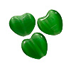 Cat's Eye Heart Bead 6mm Emerald Green (200-Pcs)