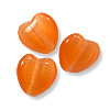 Cat's Eye Heart Bead 6mm Orange (200-Pcs)