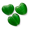 Cat's Eye Heart Bead 8mm Emerald Green (10-Pcs)