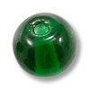 Glass Round Bead 8mm Emerald (50-Pcs)