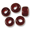Kenya Glass Padre Beads Garnet Red 9mm (100-Pcs)
