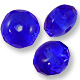 Czech Fire Polished Donut 3x5mm Sapphire (10-Pcs)