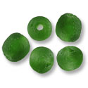 Ghana Recycled Glass Green Beads 13mm (5-Pcs)
